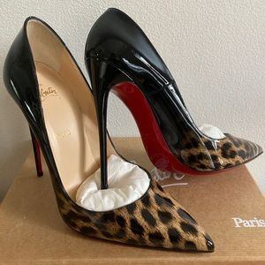 Christian Louboutin So Kate Degrade Leopard Patent